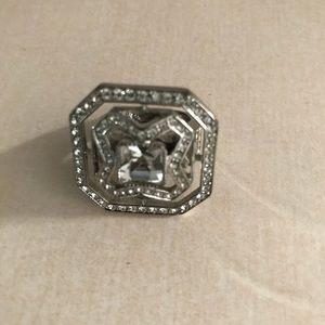 Vintage Givenchy 925 silver over copper ring